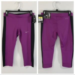 NWT Nike Dri-Fit Essential Capri Pants Small New